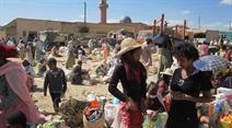 Buntes Treiben auf dem Marktplatz von Dekemhare, Eritrea.