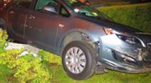 Das Fahrzeug wurde beim Unfall stark beschädigt.