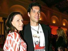 Michael Ballack mit Freundin Simone Lambe.