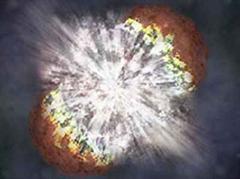 Illustration einer Supernova.