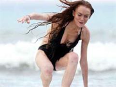 Lindsay Lohan gut gelaunt.