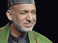 Unklares Wahlergebnis: Hamid Karzai.