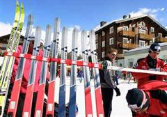 Wintersport-Tourismus im Wallis.