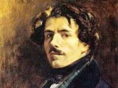 Selbstportrait von Eugène Delacroix.