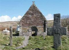 Irland pflegt seine Kulturgüter. Bild: Kirchenruine Kilmalkedar.