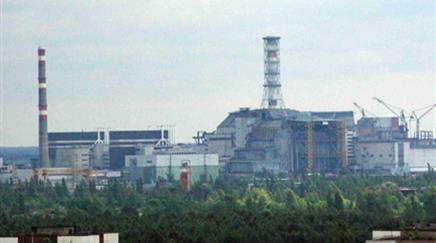 Die Kernkraftwerksruine in Tschernobyl.