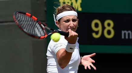 Timea Bacsinszky in ihrem Viertelfinalmatch.