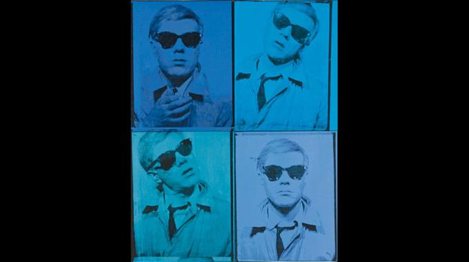 Selbstportrait Andy Warhols. (Archivbild)