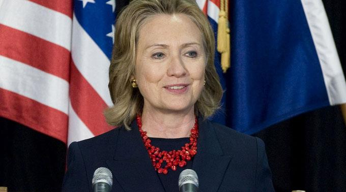 Hillary Clinton schoss in ihrer Rede gegen Donald Trump. (Archivbild)