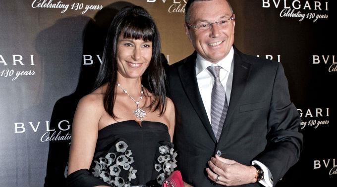 Bulgari-Präsident Jean-Christophe Babin und seine Frau.