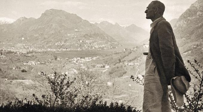 Hermann Hesse in Montagnola, Vista dalla Casa Rossa.