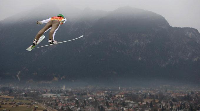 Peter Prevc über Garmisch-Partenkirchen.