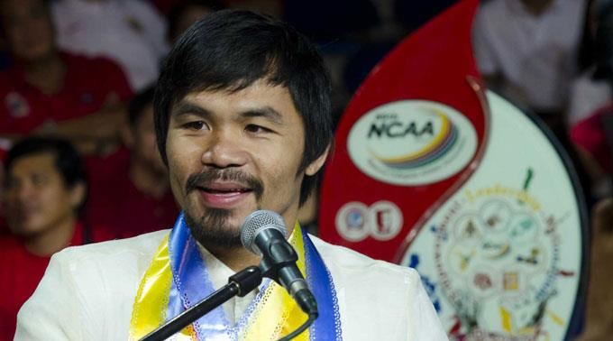 Manny Pacquiao bestreitet am 9. April seinen mutmasslich letzten Kampf. (Archivbild)