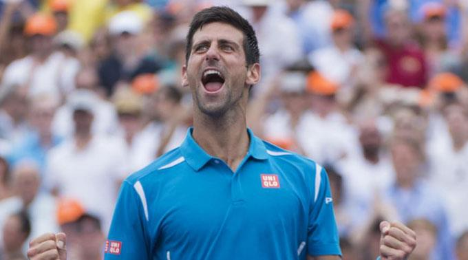 Novak Djokovic sahnt mächtig ab.