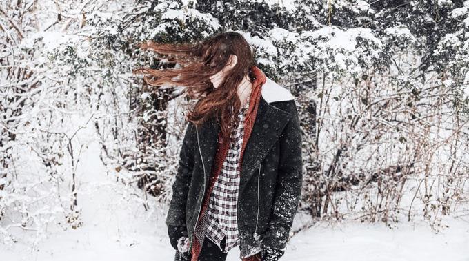 Frierende Haare.